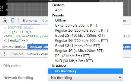 Comment simuler une connexion lente bas débit avec Google Chrome ?